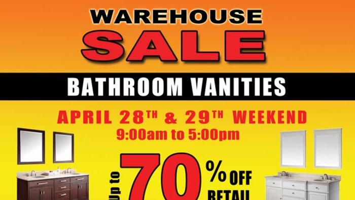 Vente d 39 entrep t vanit s salle de bain for Entrepot de meuble montreal