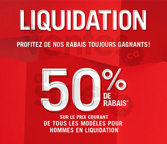 Liquidation aldo rabais de 50 - Vente de liquidation ...