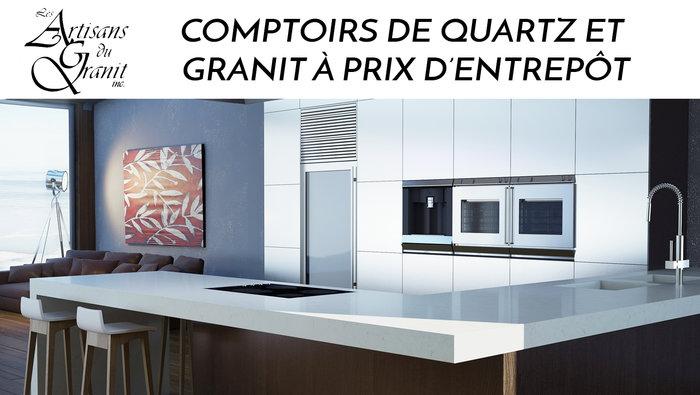 Comptoirs quartz granit meilleur prix for Liquidation electromenager lanaudiere
