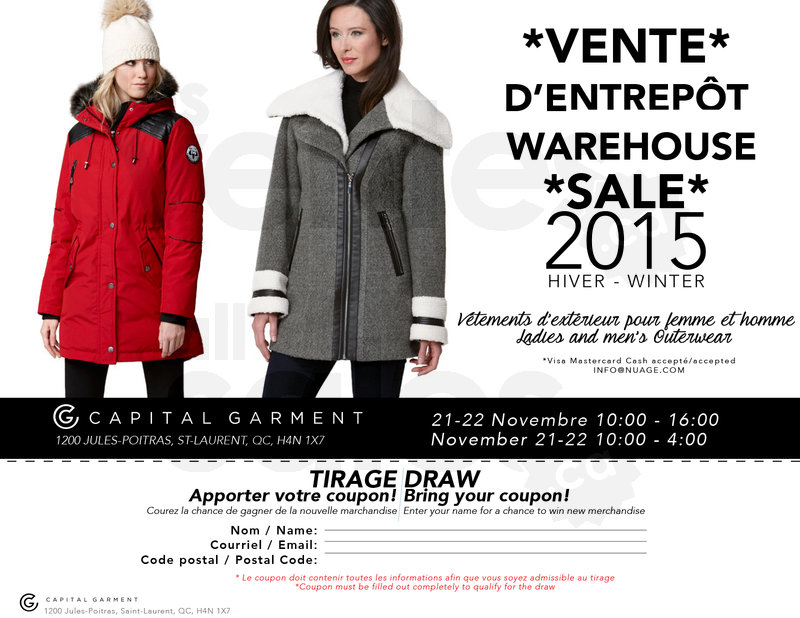 Vente de manteau d'hiver pour femme