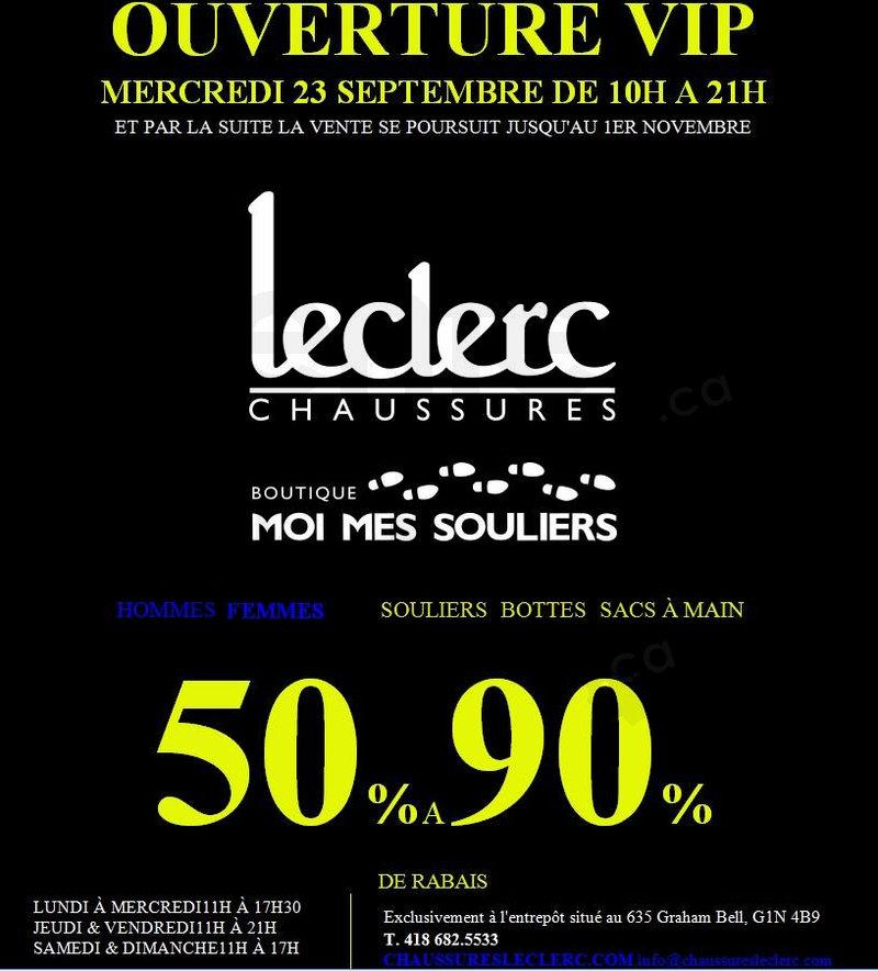 Vente d 39 entrep t chaussures 50 90 for Entrepot du meuble quebec