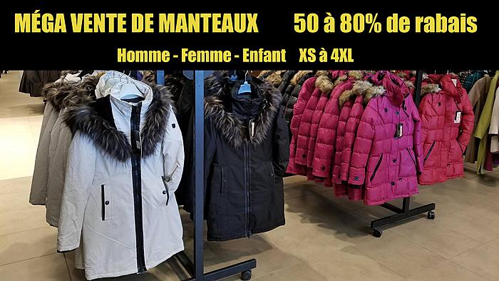 Vente manteau d'hiver montreal