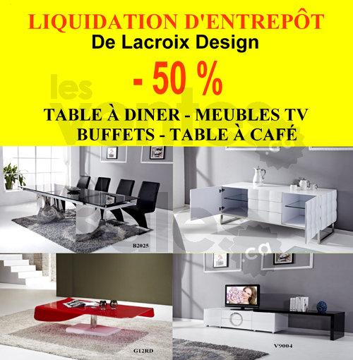 liquidation d 39 entrep t de meubles 50. Black Bedroom Furniture Sets. Home Design Ideas