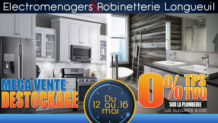 Vente d stockage lectrom nagers plus for Liquidation electromenager lanaudiere