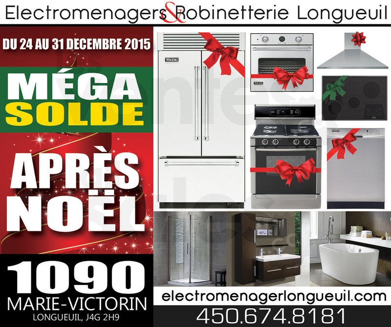 Solde de l 39 apr s no l lectrom nagers for Liquidation electromenager montreal