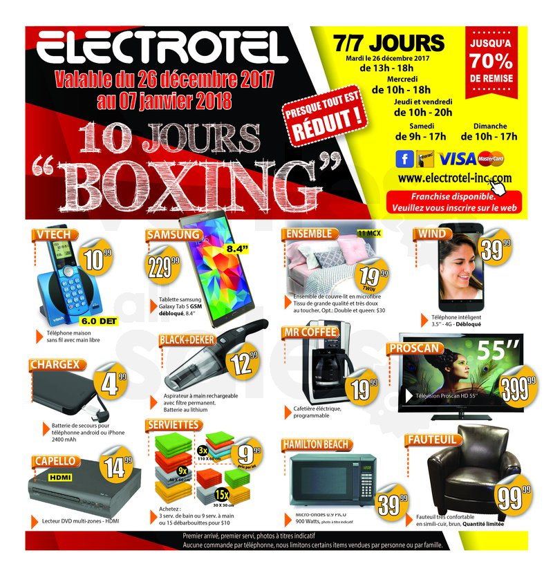 Lectrotel 10 jours de boxing day for Meuble boxing day