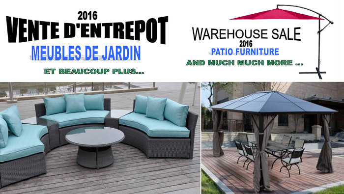 Vente entrepôt meubles de jardin et plus | lesventes.ca