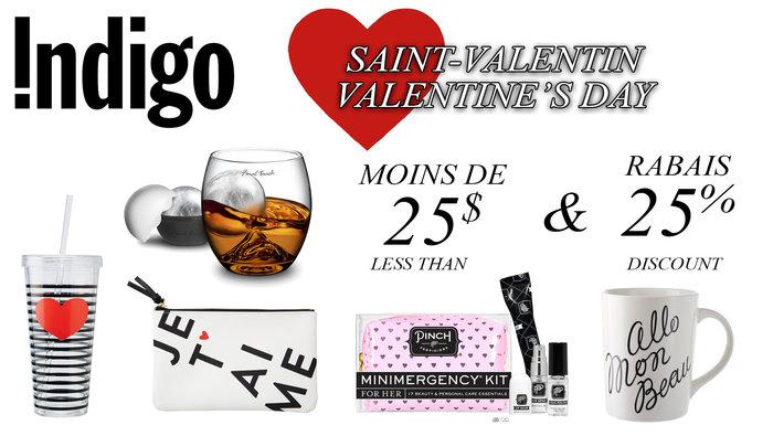 Cadeaux st valentin moins 25 et 25 for Papeterie brossard