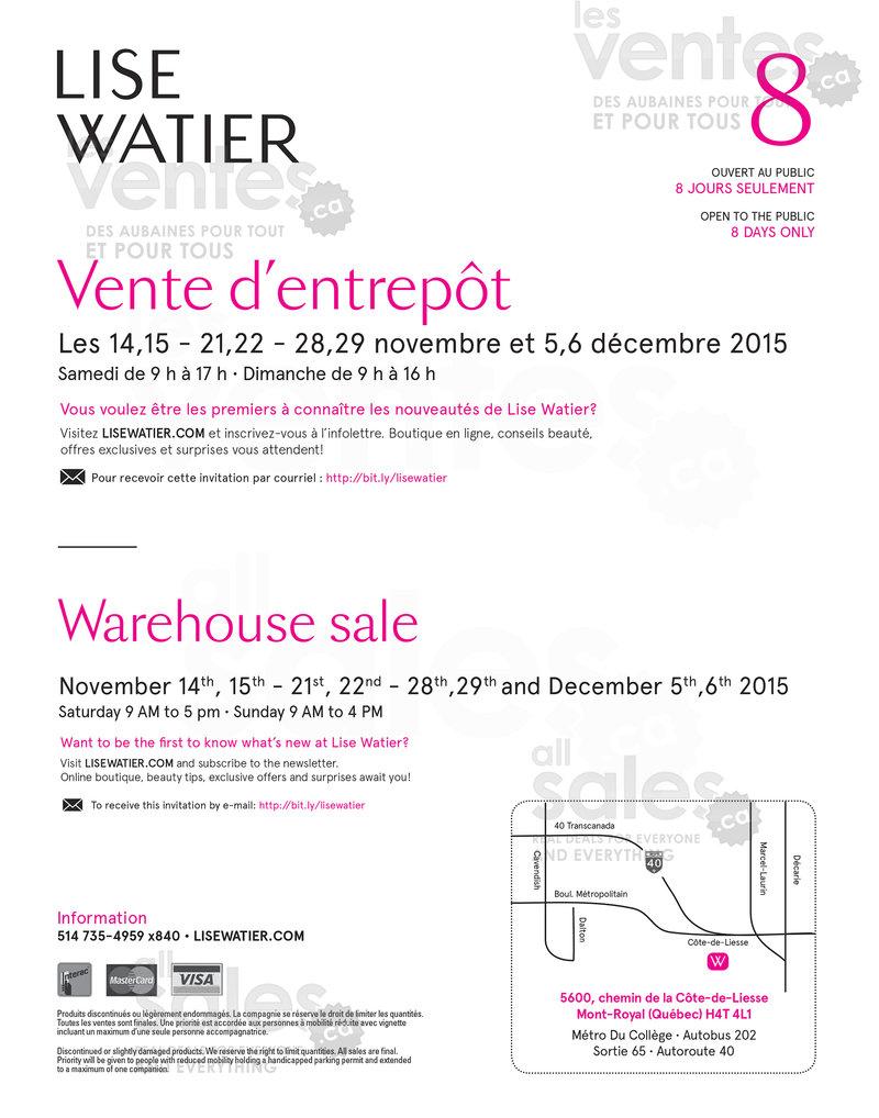 Vente entrepot montreal novembre for Liquidation entrepot