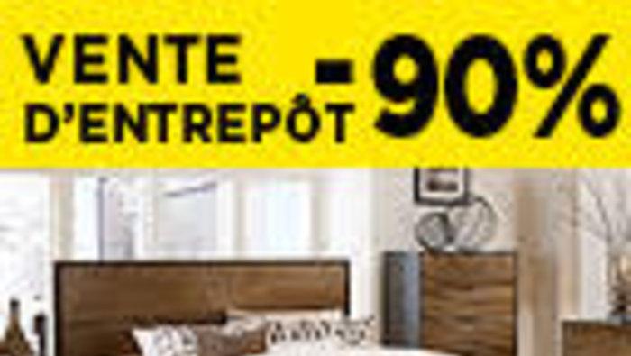 Vente d 39 entrep t de meubles jusqu 39 90 for Entrepot de meuble montreal
