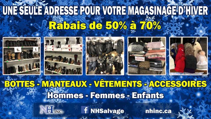 d0afb2104f296 Bottes, manteaux, acc. Rabais 50% à 70%
