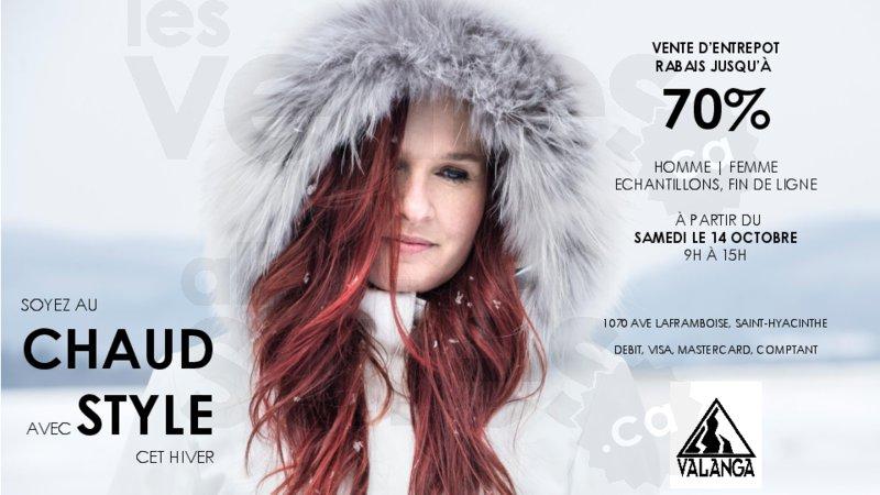 Manteaux d 39 hiver valanga jusqu 39 70 - Date fin des soldes hiver 2017 ...