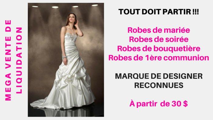 Entrepot de robe de mariee a montreal
