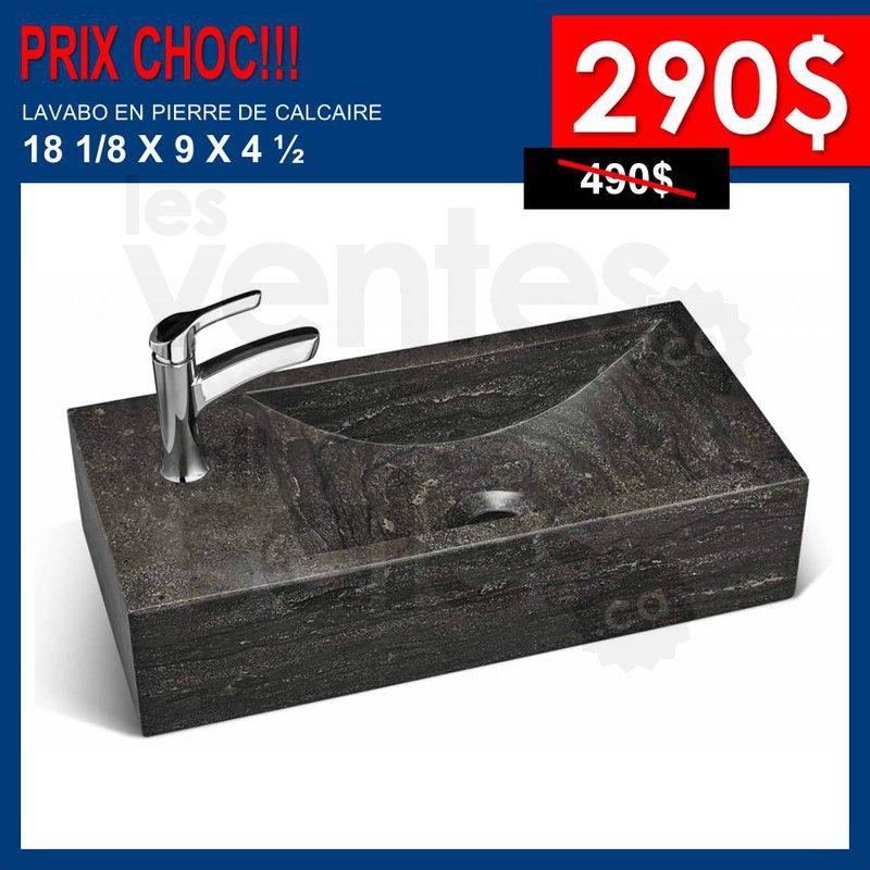 Lavabos pierre de calcaire rabais 40 50 for Meuble a rabais mascouche