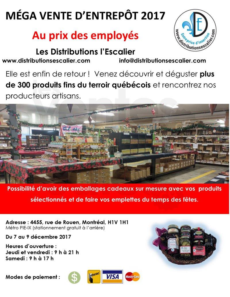 Vente d 39 entrep t produits fins for Entrepot de meuble a montreal