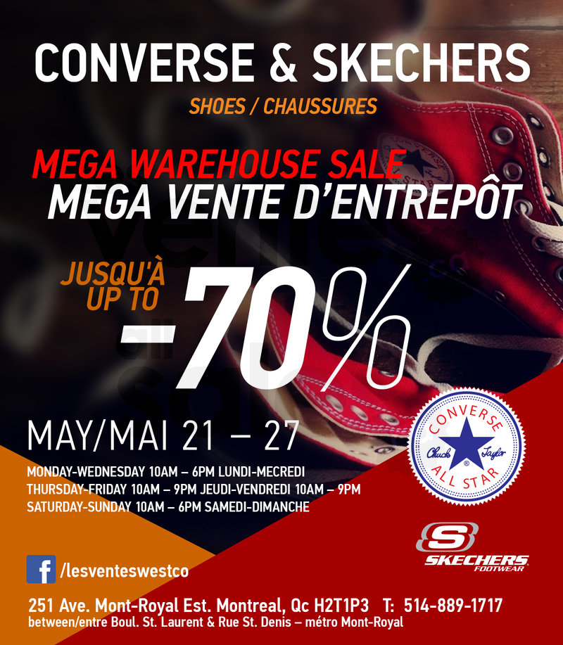vente converse montreal
