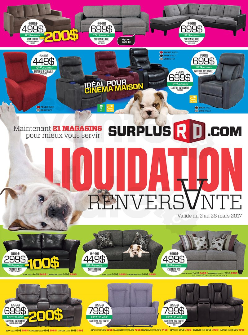 Liquidation renversante sofas meubles for Liquidation meuble chicoutimi