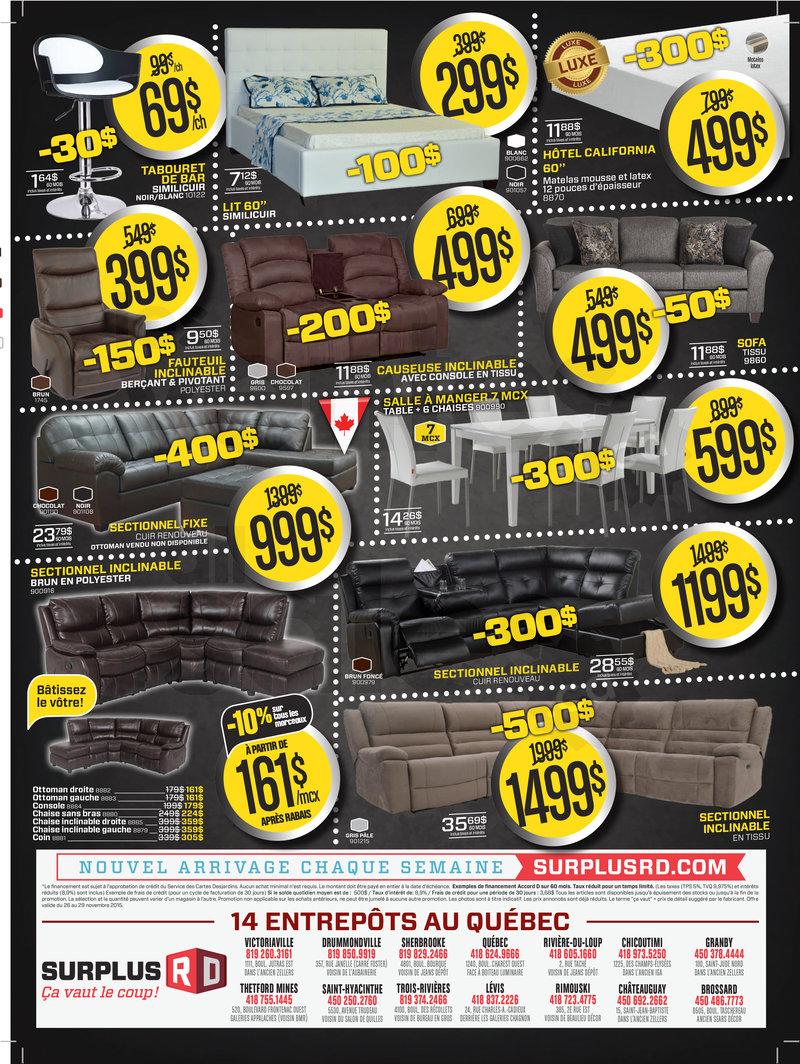 Meubles rabais prix fou vendredi noir for Entrepot liquidation meubles et matelas