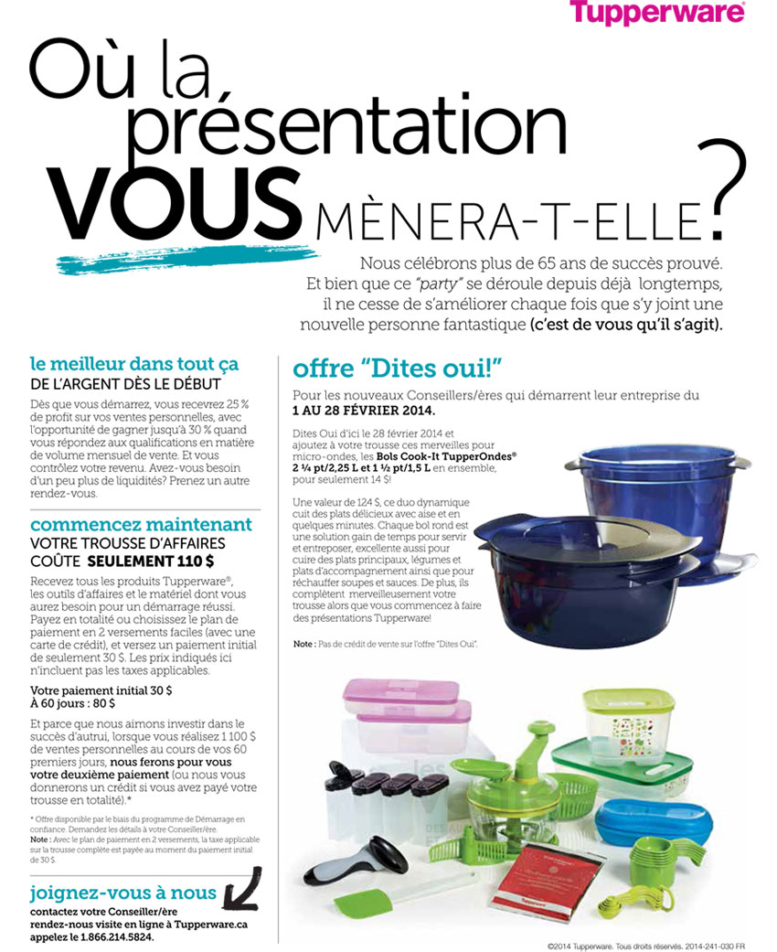 Media Library Tupperware Banniere SayYesOffer 3Dec2013 FR