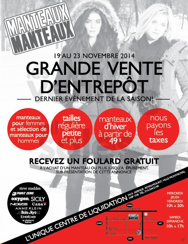 Vente d 39 entrep t manteaux manteaux for Entrepot liquidation