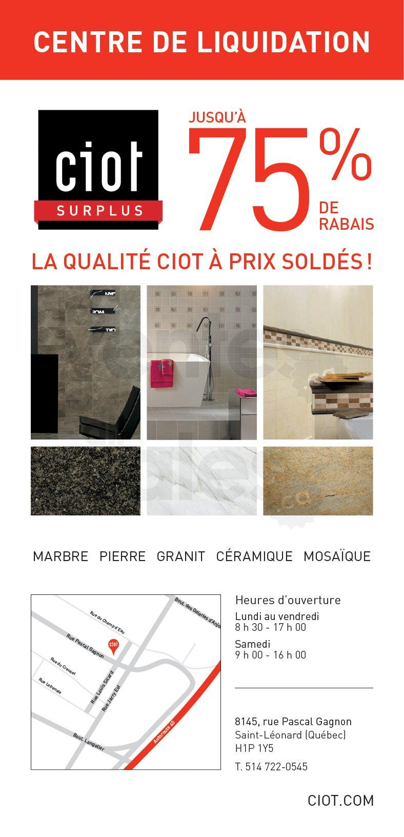 ciot surplus liquidation jusqu 39 75. Black Bedroom Furniture Sets. Home Design Ideas